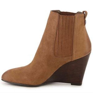 Sam Edelman brown leather wedges ankle booties